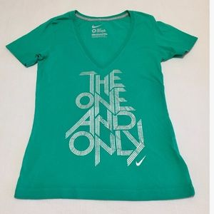 NIKE SLIM FIT TEE TOP/ GREEN/ THE ONE AND ONLY